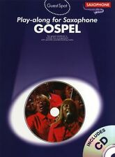 Guest Spot Gospel Play-Along Alto Saxophone Learn to Play Sax Music Book & CD