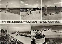 SENFTENBERG DDR Mehrbild-AK mit 5x See Ansichten Postkarte ab Ruhland gelaufen