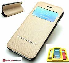 Cuir HOCO SMART SÉRIES Porte-feuille Livre boitier pour APPLE iPHONE 6 6S- doré