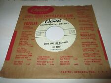 "SUE RANEY Don't Take My Happiness 45 7"" EX- US CAPITOL DJ GIRL POP 1955 LISTEN"