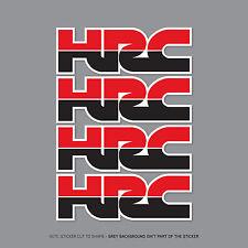 4 x HONDA HRC Stickers Decals - Honda Racing Corporation - 75mm x 25mm - 2359