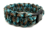 "Paracord Bracelet 550 Black Tactical 3/8"" Buckle (Undersea) Hand Made"