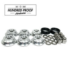 HUNDRED PROOF HARDWARE K Series Valve Cover Hardware K20 K20a K24 K24a2 [Silver]
