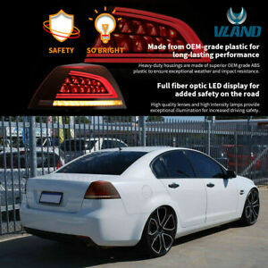 Customized RED CLEAR FULL LED Taillights for 06-13 Holden Commodore VE Series