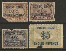 Puerto Rico   Porto Rico 1901 Excise Revenue Documentary #R2/R7 Faulty HiCV
