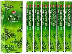 Hem Good Health Incense Bulk 6 x 20 Stick Box 120 Sticks FREE SHIPPING