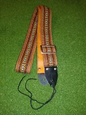 """Vintage Gibson 2"""" Guitar Strap Woven Hootinanny 60s or 70s?"""