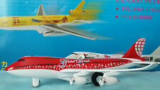avion BOEING 747 Global Reach rouge et blanc Metal Wing avion miniature lumières