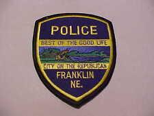 FRANKLIN NEBRASKA  POLICE PATCH