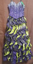 Purple & Green Quinceanera Nox Narianna Prom Dress XS 2 Formal Homecoming