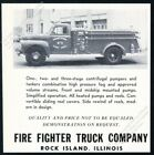 1950 Prophetstown Illinois fire engine photo Fire Fighter Truck vintage print ad