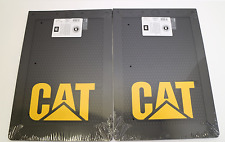 2x LARGE CATERPILLAR CAT MUD FLAP - BLACK WITH RAISED CAT LOGO - 4X4 - UTE - 4WD