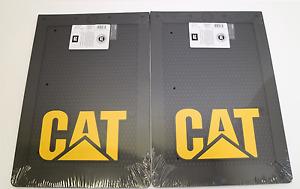 2x LARGE CATERPILLAR CAT MUD FLAP - BLACK WITH RAISED CAT LOGO - 4X4 - UTE - 4WD