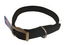 Dog Collar XL Extra Large Black Double Nylon Neck Size 21 - 24 Inches Pet Walk