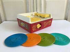 🦋 Ancien Tourne Disque Fisher Price Music Box Record Player Réf 995 Vintage