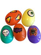 Halloween Trick or Treat Easter Egg Hunt Skull Plastic Eggs Candy Toys Lot of 20