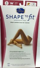 Womens 20-30 mmhg Compression Pantyhose Stockings Supports Dr Comfort ShapetoFit