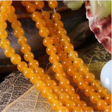 "8mm Yellow South America Topaz Gems Loose Beads 15""AAA"