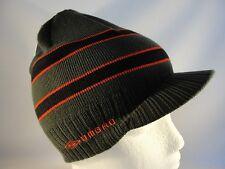 Umbro Radar Knit Beanie Visor Brim Hat Gray