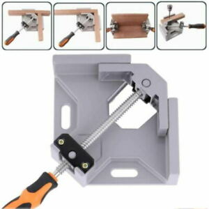 Woodworking 90° Right Angle Picture Frame Corner Clamp Clip Holder Tool Set Kit