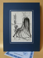 SALVADOR DALÍ 1944 THE LADY OF THE CORNFLOWERS LITHOGRAPHIC PRINT SIGNED COA