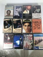 Lot Of 12 Audio Cassettes Willie Nelson, Madonna, Nat King Cole Etc