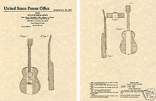 BUCK OWENS Acoustic Guitar Art Print READY TO FRAME Red White Blue Body