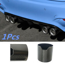 1x Glossy Carbon Fiber Exhaust Pipe Cover Shell Muffler Tip Carbon Case 93*90mm