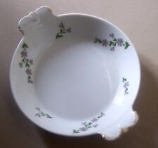 LIMOGES SERVING DISH - PURPLE FLORAL SPRIGS - G.AHRENFELDT- c1900     *