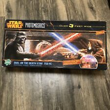 Star Wars Duel on the Death Star Photomosaics Panoramic Jigsaw Puzzle 750 Vader