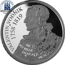 Slovénie 30 euros argent pièce de monnaie 2008 pp 250. anniversaire de valentin vodnik