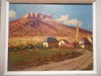 Tableau montagne Lucien QUENARD peinture Sappey Charteuse Chamechaude Savoie
