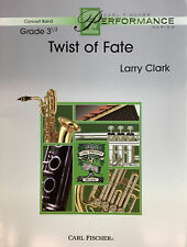 Twist Of Fate for grade 3 1/2 concert band, score and parts.