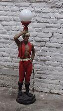 Lampe Stehlampe Stehleuchte Junge Figur Figurenlampe Mohr Skulptur Deko 05 Rot