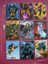 Marvel Masterpieces 2007 X-Men Chase cards 1:4 Set X9 SkyBox VFN