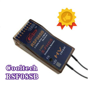 Cooltech RSF08SB 8ch Receiver S-FHSS Compatible SBUS for Futaba 10J, 8J, 6K, 6J