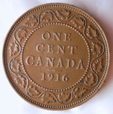 1916 CANADA CENT - High Grade Strong Headband - FREE SHIP - Canada Bin Z