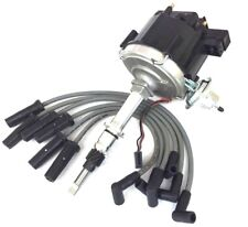 175+549 HEI DISTRIBUTOR + PLUG WIRES AMC JEEP 258 232 4.0L 4.2L 6 CYL GM CAP UPG