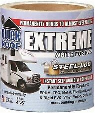 """CoFair Products WQR36 Quick Roof 36/"""" x 33.5/' White Aluminum RV Roof Tape"""