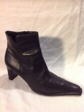 Ecco Black Ankle Leather Boots Size 38