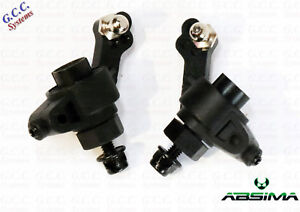 Absima AB2.4 Hotshot Complete Rear Hubs Carriers Hex Nuts Balls Cup - Brand New