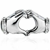I Love You Hand Heart S925 Sterling Silver Bead Charm Mum Wife Daughter Sister