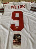 Binjimen Victor Autographed/Signed Jersey JSA COA Ohio State Buckeyes