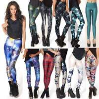 Women Sexy Skinny Leggings Stretch Pencil Pants Galaxy Pattern Print Jeggings