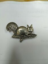 Brooch By Brown Lovely Squirrel Pewter Pin