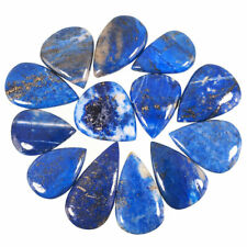 13 Pcs Untreated Natural Lapis Lazuli 29mm-40mm Cabochon Gemstones Afghanistan