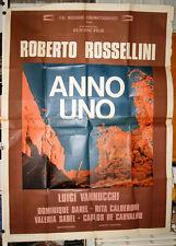 """manifesto 4F film ANNO UNO Roberto Rossellini 1974 """"Alcide De Gasperi"""""""