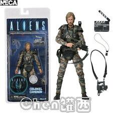"7"" NECA Aliens Colonel Cameron Colonial Marine Figure Alien Movie Director Toys"