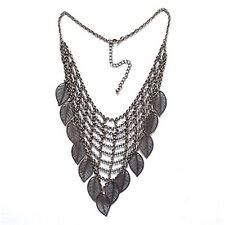 Vintage style bronze coloured chandelier leaf necklace
