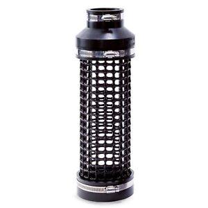 Ansaugrohr Pumpenkorb Siebrohr Teich Pumpe Filter Hel-X Ø110 x 50 schwarz L=37cm